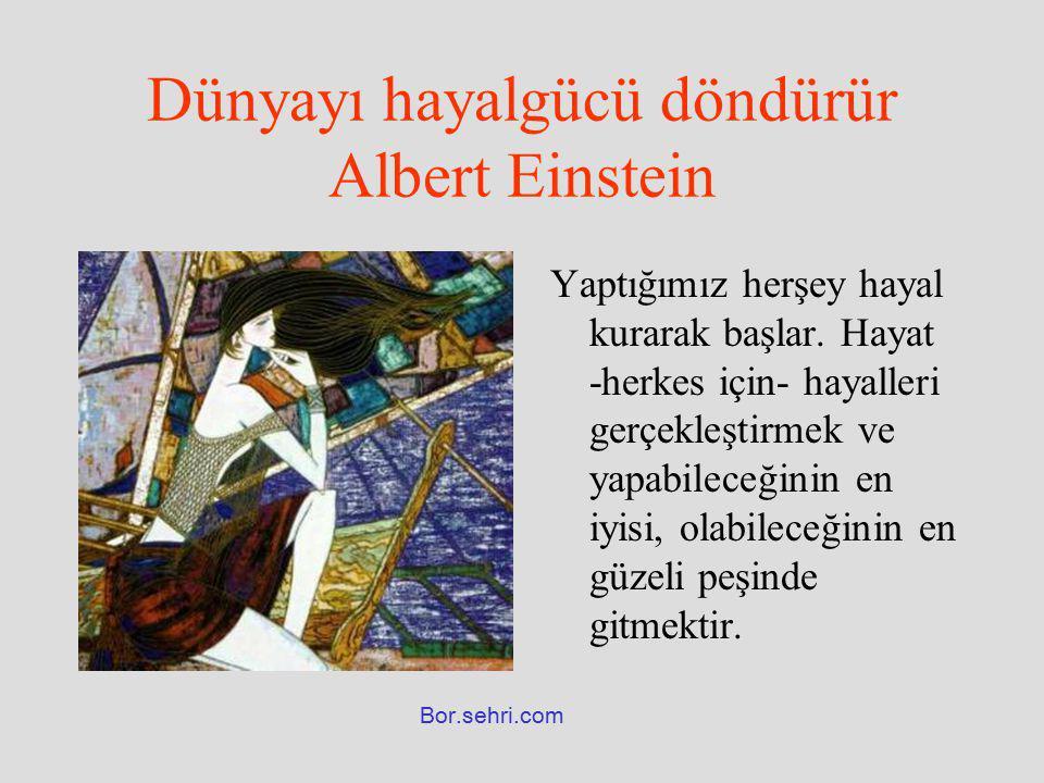 Dünyayı hayalgücü döndürür Albert Einstein