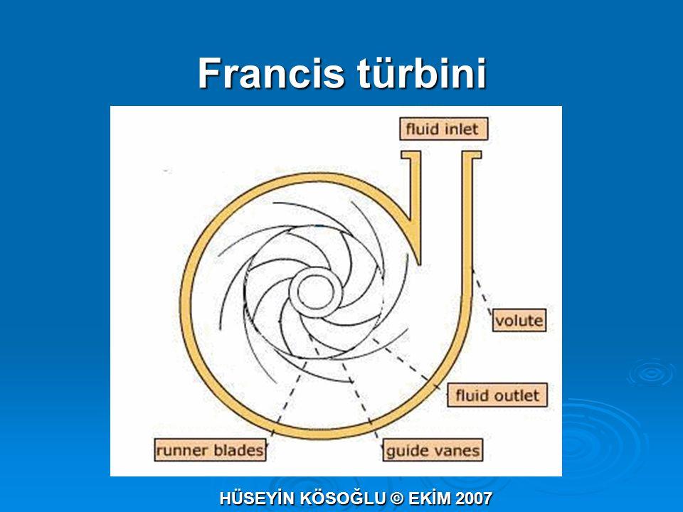 Francis türbini HÜSEYİN KÖSOĞLU © EKİM 2007
