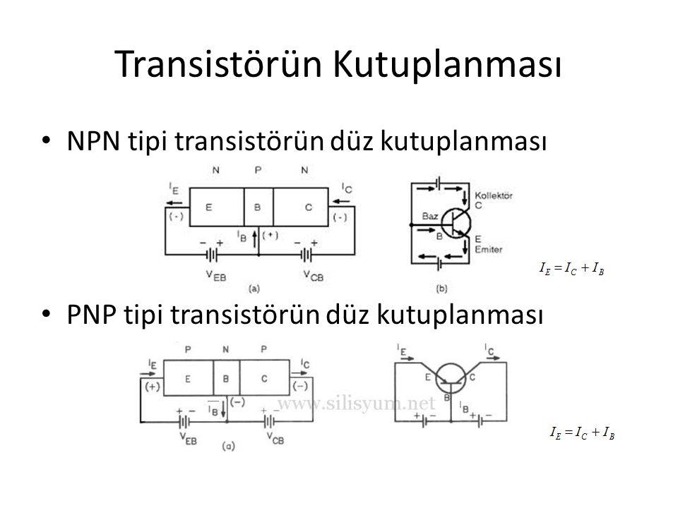 Transistörün Kutuplanması