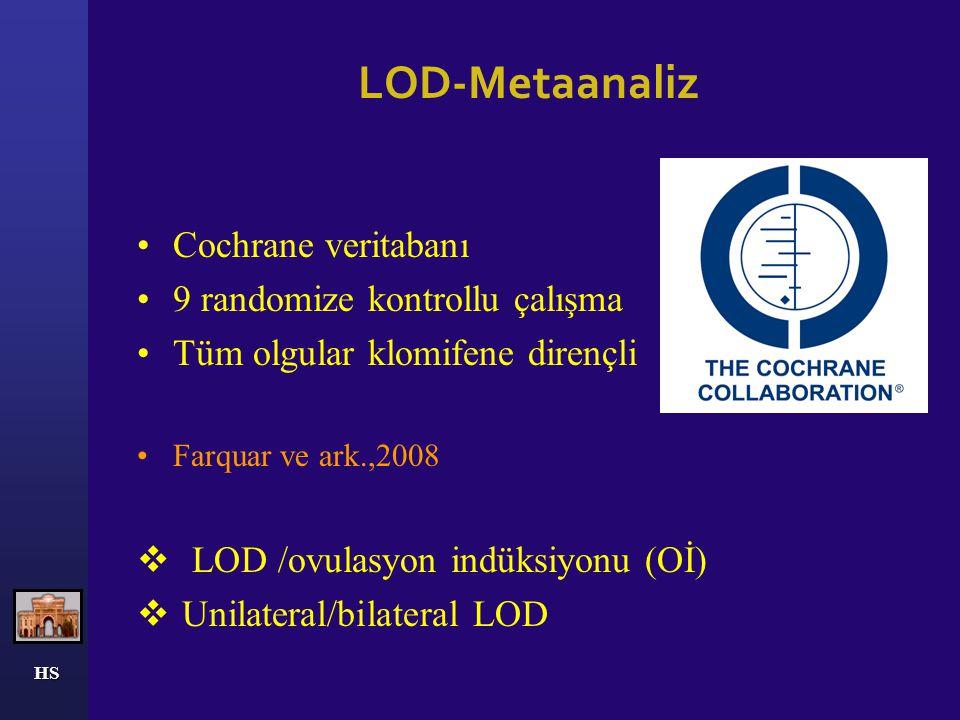 LOD-Metaanaliz Cochrane veritabanı 9 randomize kontrollu çalışma