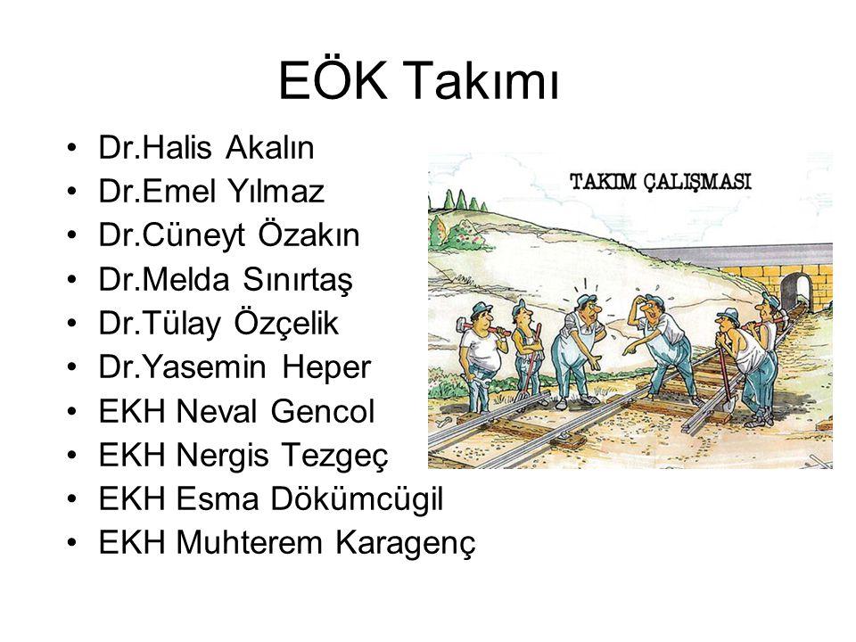 EÖK Takımı Dr.Halis Akalın Dr.Emel Yılmaz Dr.Cüneyt Özakın