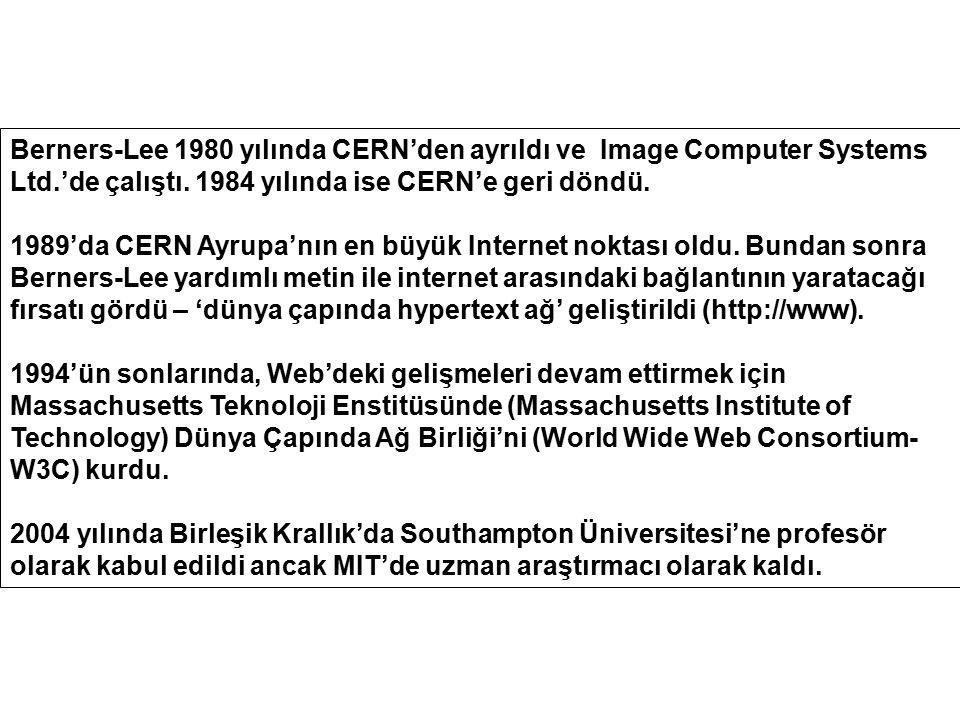 Berners-Lee 1980 yılında CERN'den ayrıldı ve Image Computer Systems Ltd.'de çalıştı. 1984 yılında ise CERN'e geri döndü.