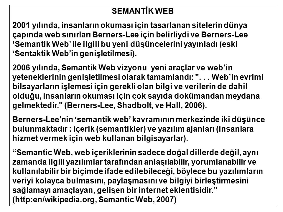 SEMANTİK WEB
