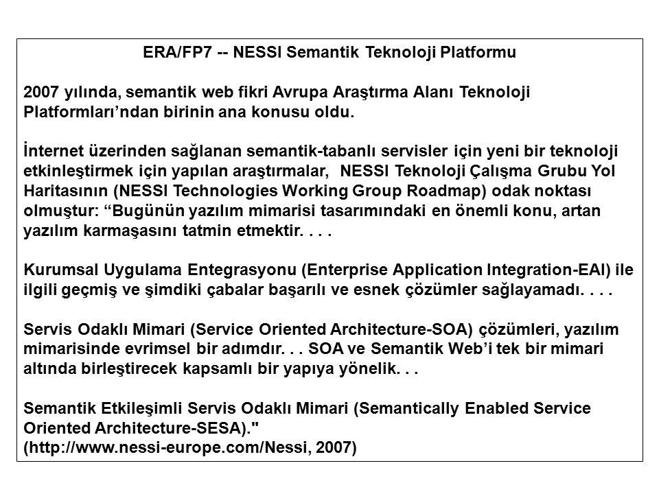 ERA/FP7 -- NESSI Semantik Teknoloji Platformu