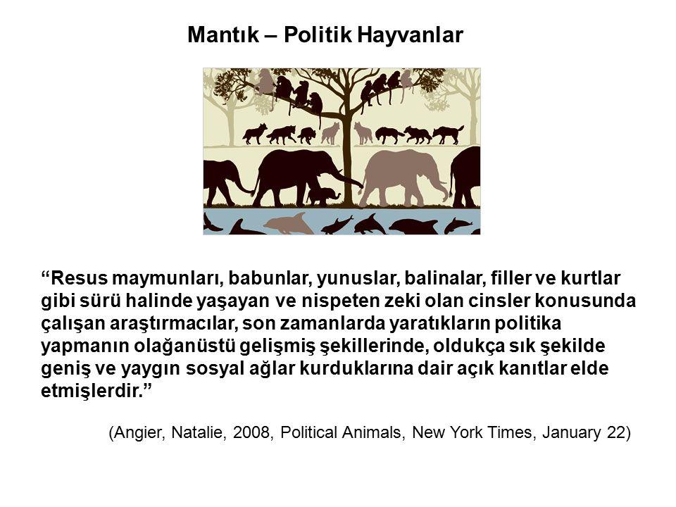Mantık – Politik Hayvanlar
