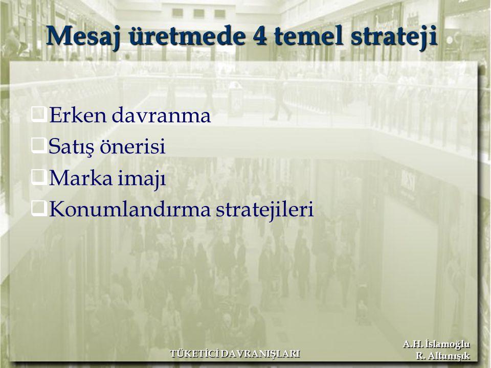 Mesaj üretmede 4 temel strateji