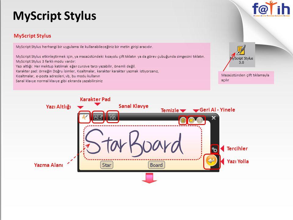 MyScript Stylus MyScript Stylus Karakter Pad Yazı Altlığı Sanal Klavye
