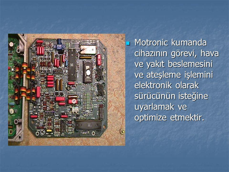 Motronic kumanda cihazının görevi, hava ve yakıt beslemesini ve ateşleme işlemini elektronik olarak sürücünün isteğine uyarlamak ve optimize etmektir.