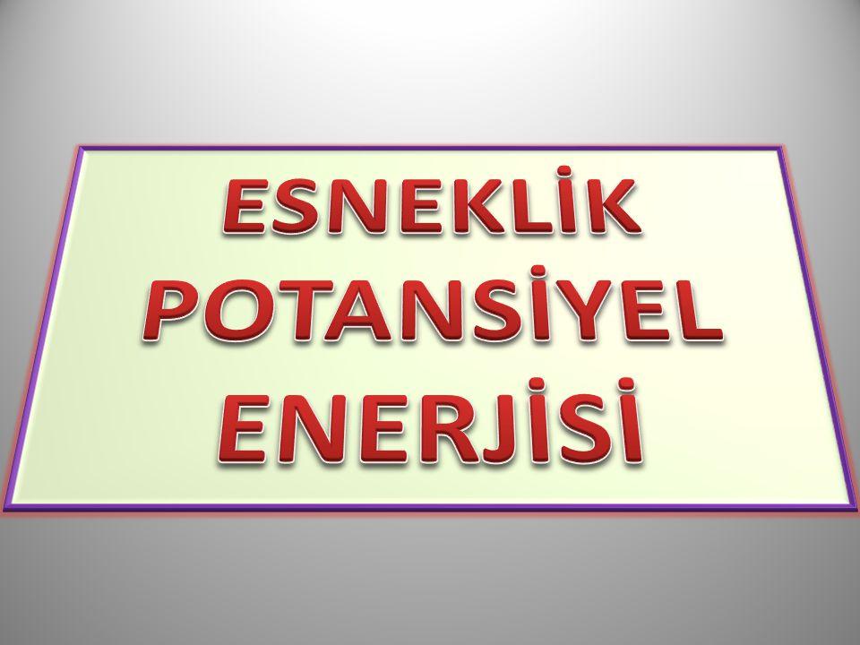 ESNEKLİK POTANSİYEL ENERJİSİ