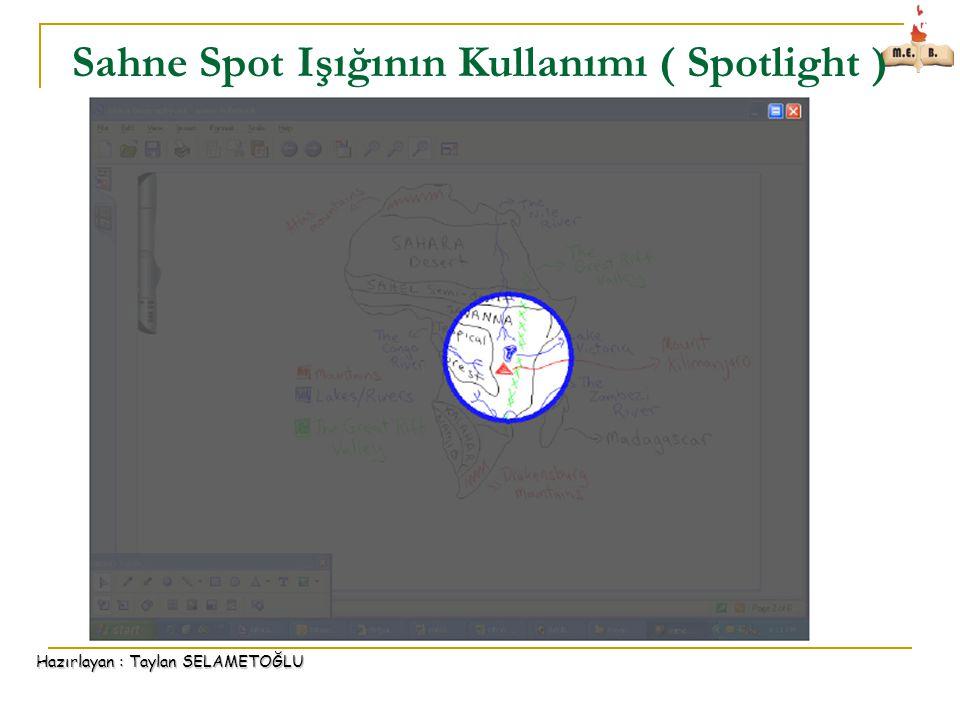 Sahne Spot Işığının Kullanımı ( Spotlight )