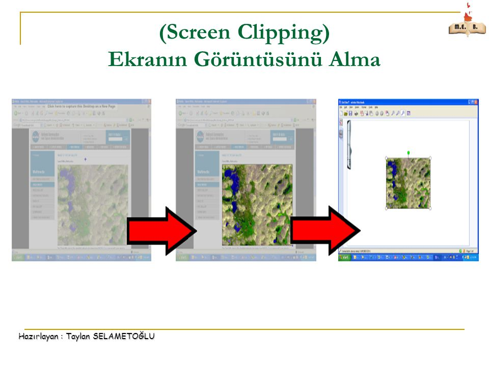(Screen Clipping) Ekranın Görüntüsünü Alma