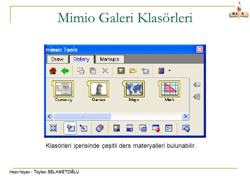 Mimio Galeri Klasörleri