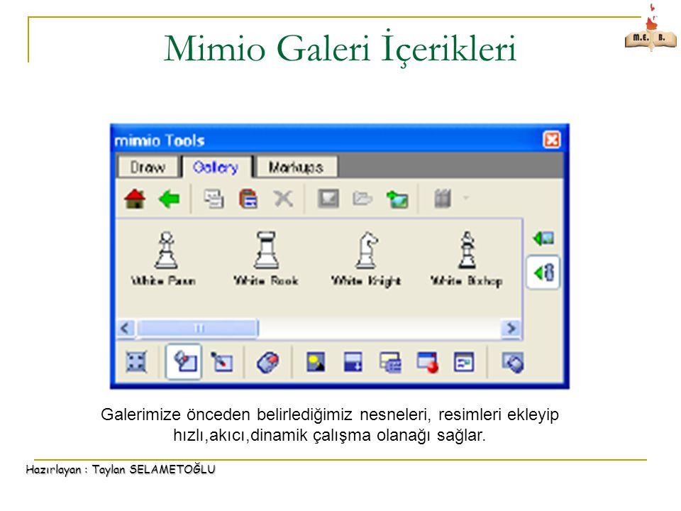 Mimio Galeri İçerikleri