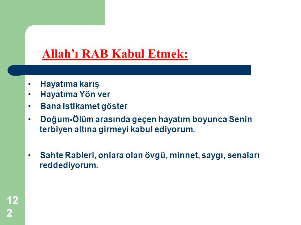 Allah'ı RAB Kabul Etmek: