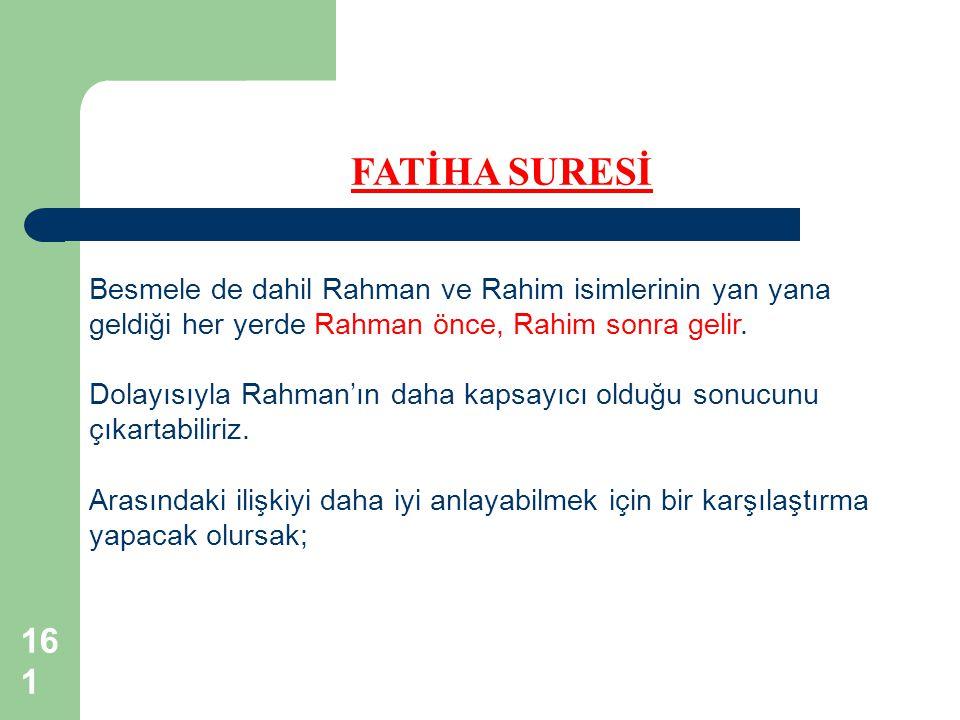 Dolayısıyla Rahman'ın daha kapsayıcı olduğu sonucunu çıkartabiliriz.