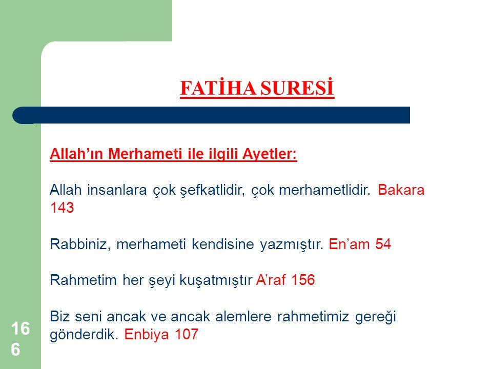 Allah'ın Merhameti ile ilgili Ayetler: