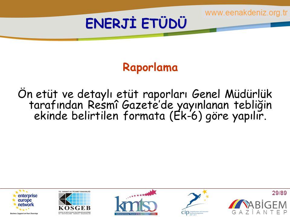 ENERJİ ETÜDÜ Raporlama