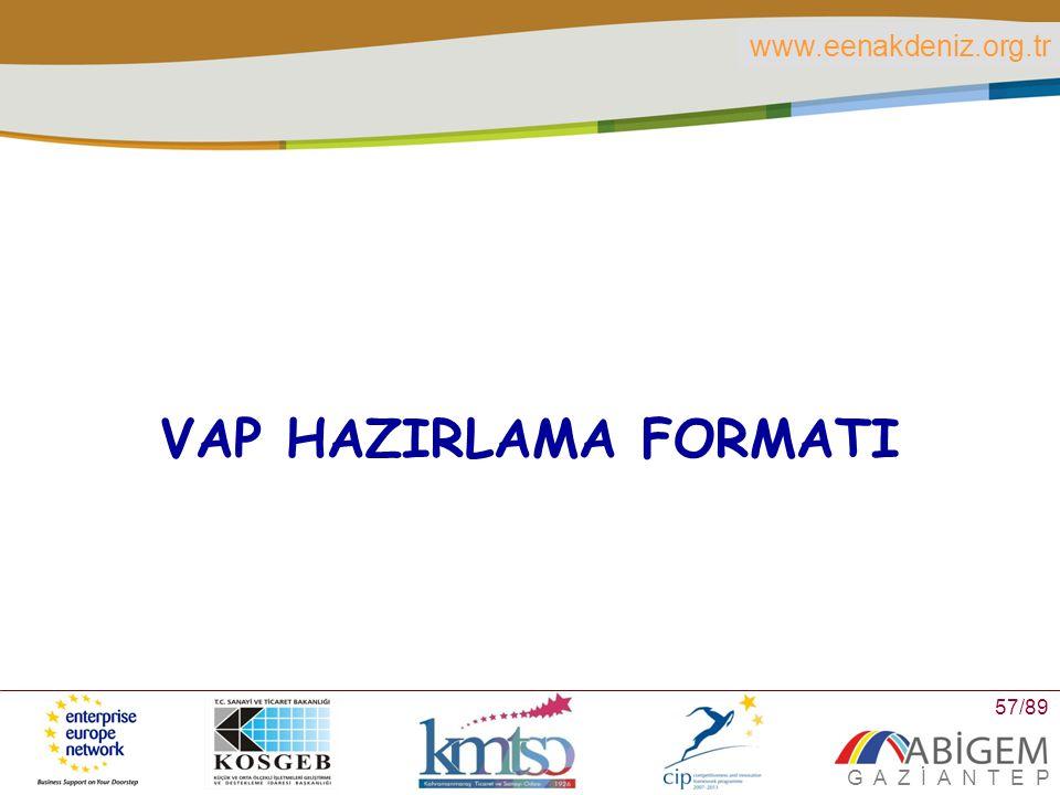 VAP HAZIRLAMA FORMATI