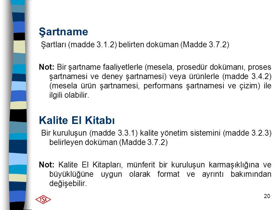 Şartname Kalite El Kitabı