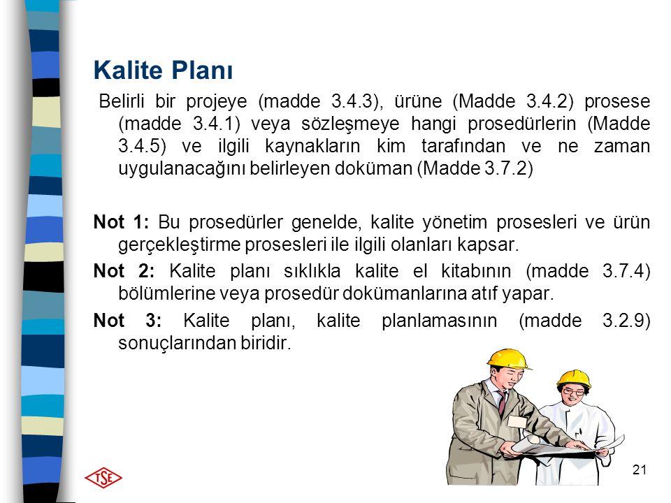 Kalite Planı