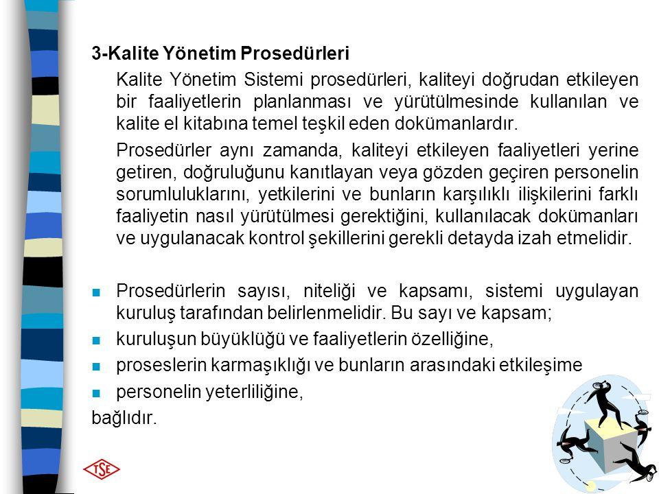 3-Kalite Yönetim Prosedürleri