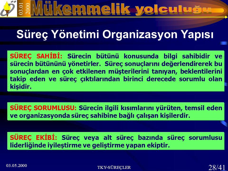 Süreç Yönetimi Organizasyon Yapısı