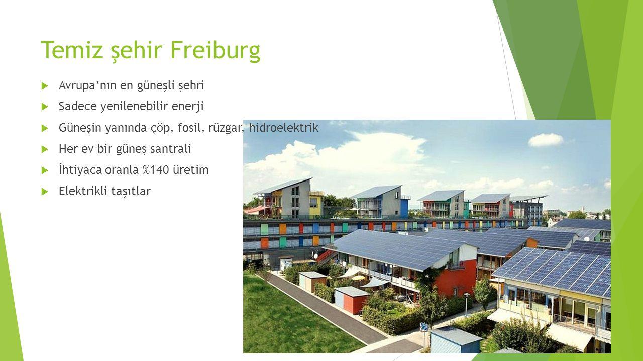 Temiz şehir Freiburg Avrupa'nın en güneşli şehri