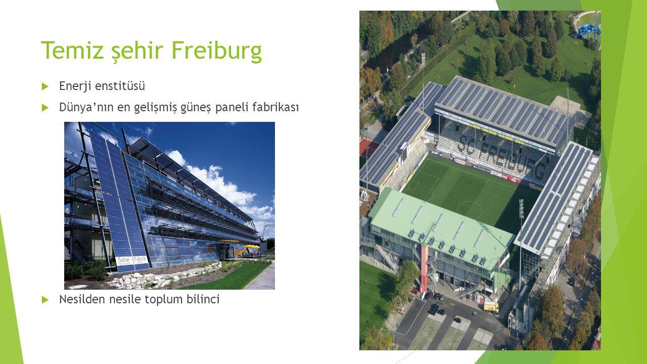 Temiz şehir Freiburg Enerji enstitüsü