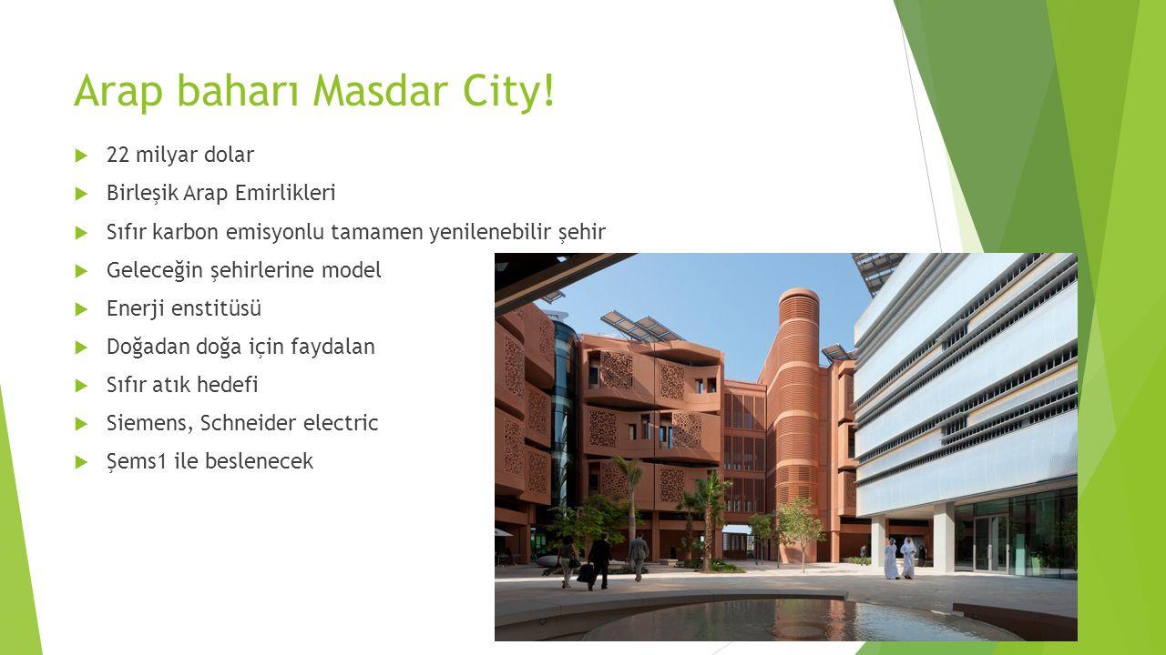 Arap baharı Masdar City!