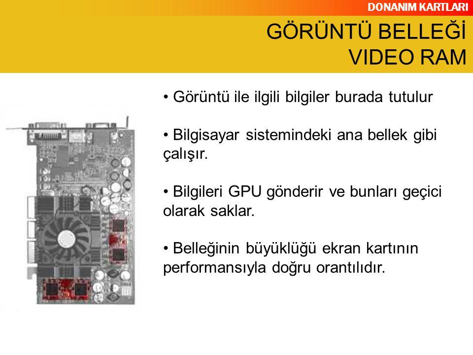 GÖRÜNTÜ BELLEĞİ VIDEO RAM