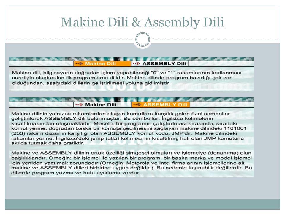 Makine Dili & Assembly Dili