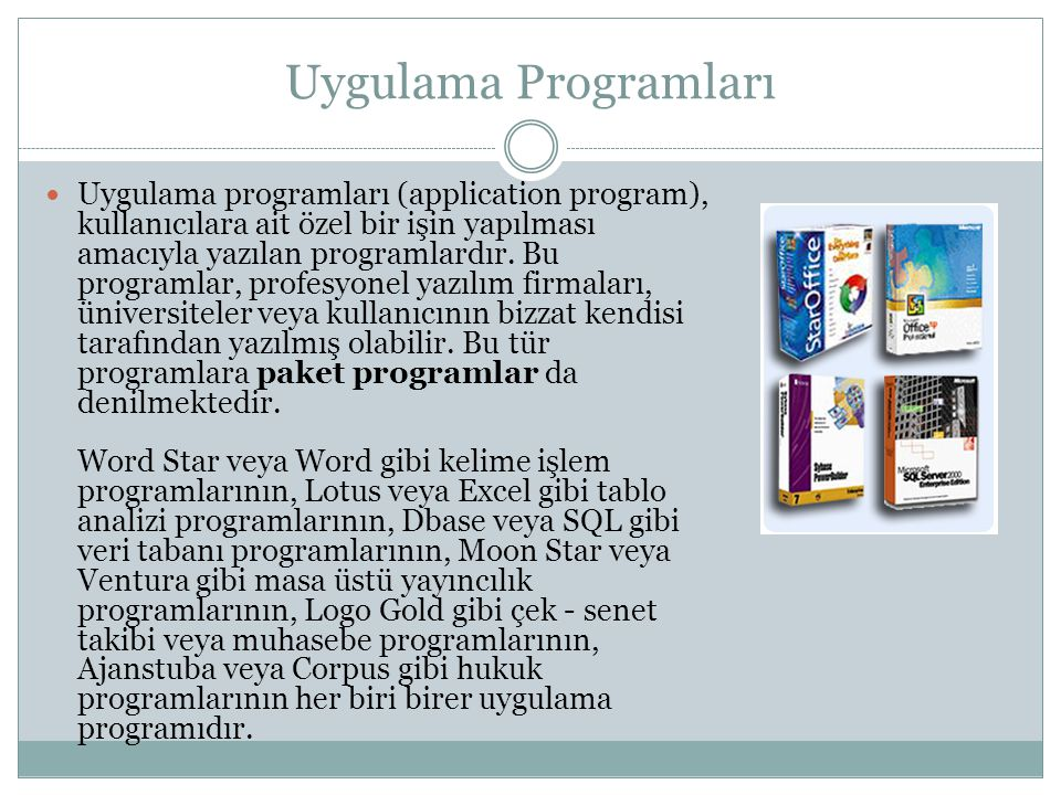 Uygulama Programları