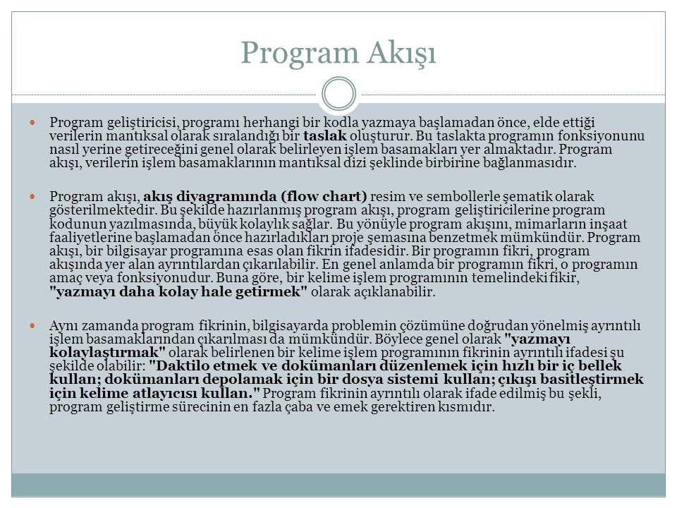Program Akışı