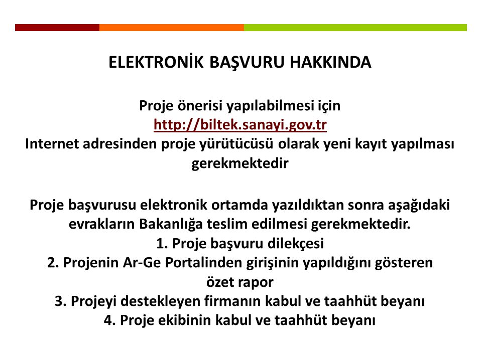 ELEKTRONİK BAŞVURU HAKKINDA