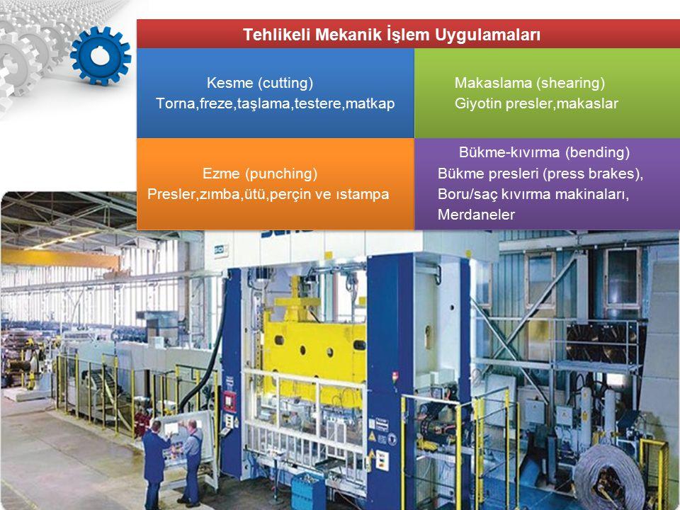 Tehlikeli Mekanik İşlem Uygulamaları