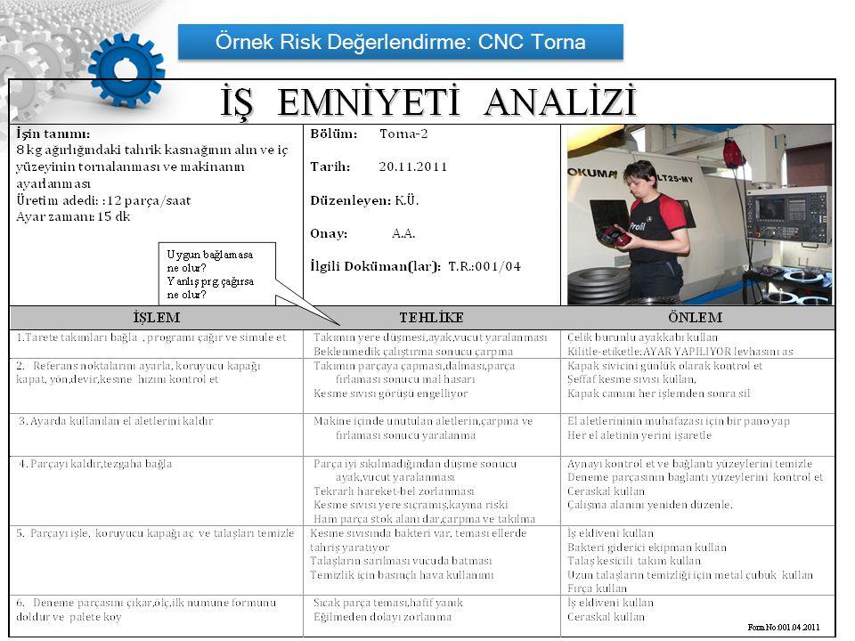 Örnek Risk Değerlendirme: CNC Torna