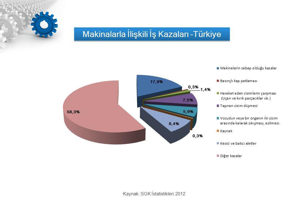 Makinalarla İlişkili İş Kazaları -Türkiye