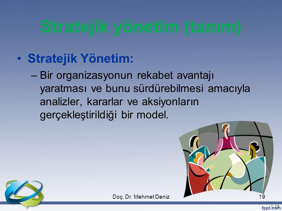 Stratejik yönetim (tanım)