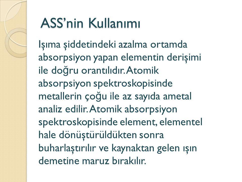 ASS'nin Kullanımı