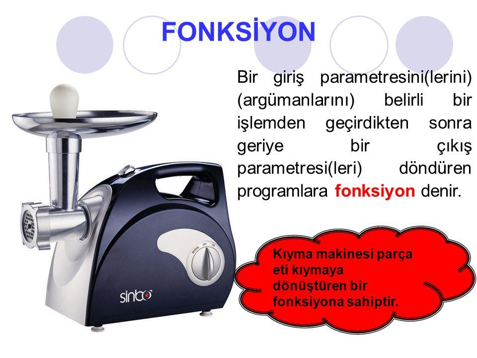 FONKSİYON