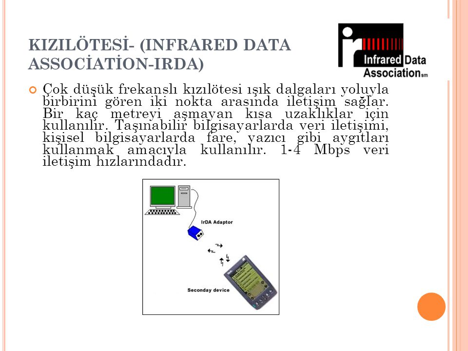 KIZILÖTESİ- (INFRARED DATA ASSOCİATİON-IRDA)