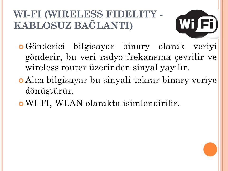 WI-FI (WIRELESS FIDELITY - KABLOSUZ BAĞLANTI)