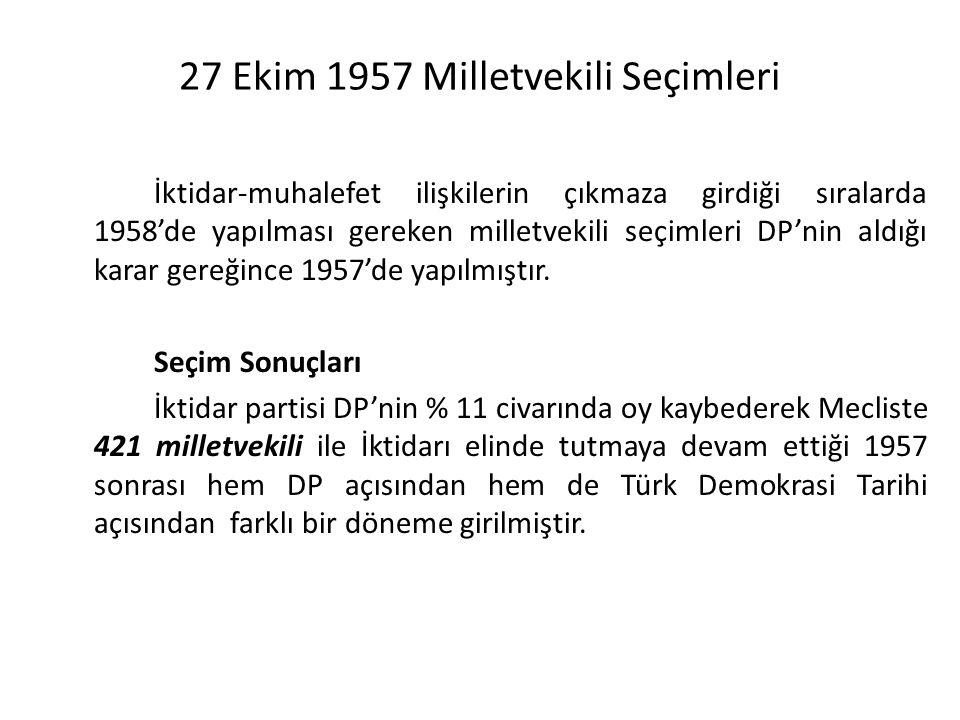 27 Ekim 1957 Milletvekili Seçimleri