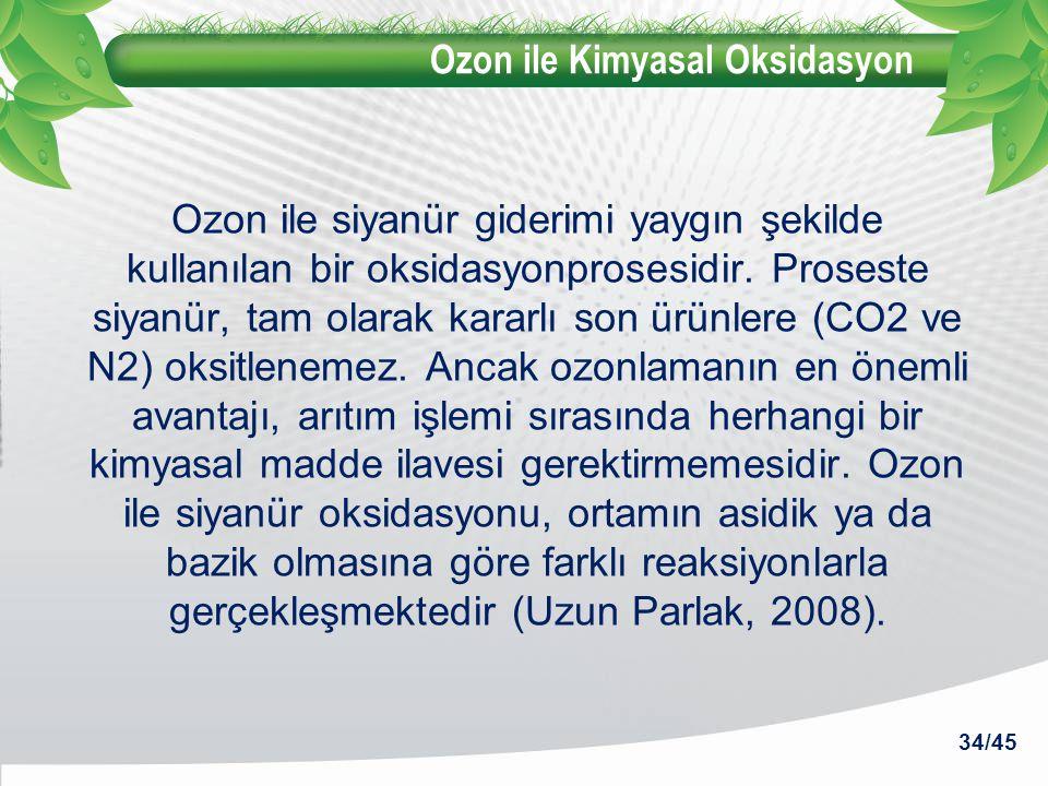 Ozon ile Kimyasal Oksidasyon