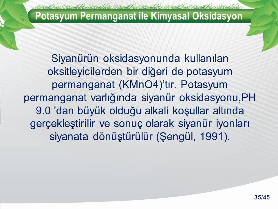 Potasyum Permanganat ile Kimyasal Oksidasyon