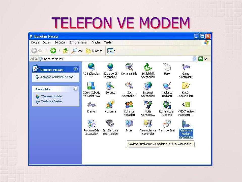 TELEFON VE MODEM