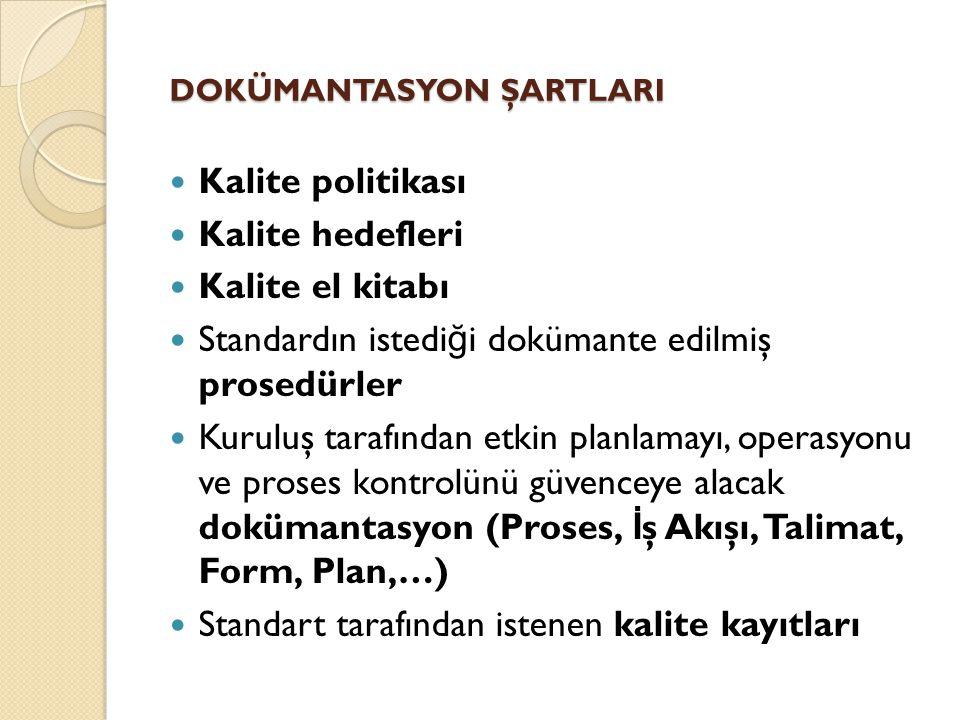 DOKÜMANTASYON ŞARTLARI