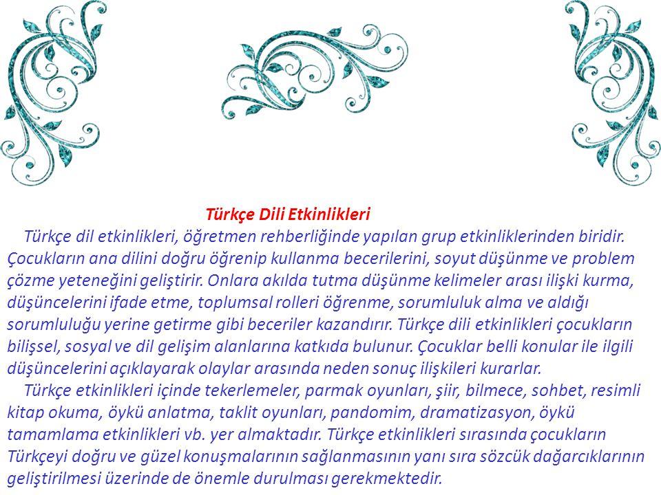 Türkçe Dili Etkinlikleri