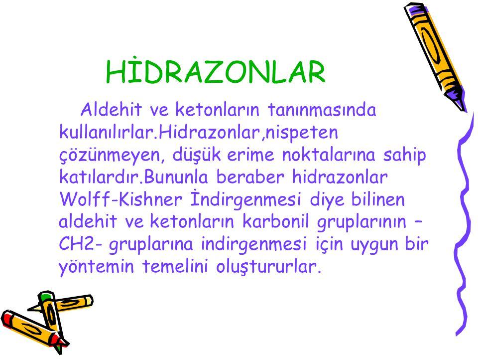 HİDRAZONLAR