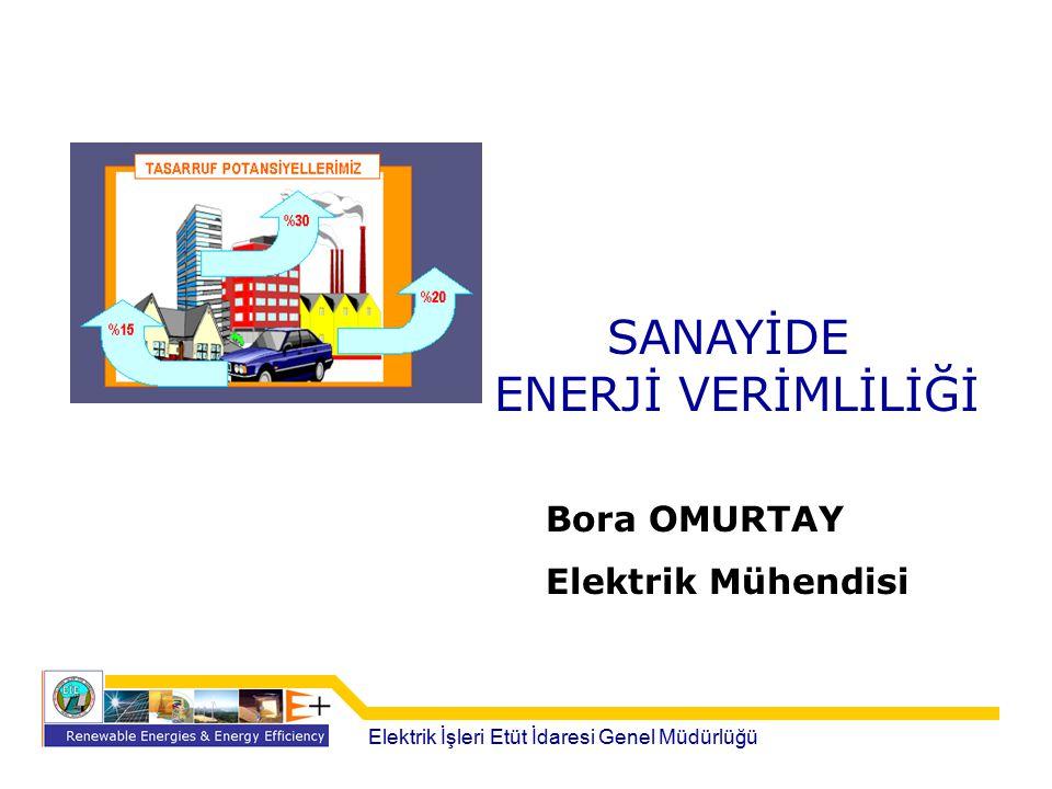 SANAYİDE ENERJİ VERİMLİLİĞİ Bora OMURTAY Elektrik Mühendisi